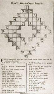 storia dei giochi di parole crociate primo cruciverba di Arthur-Wynne