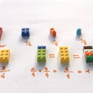Mattoncini lego un gioco educativo: impara le frazioni